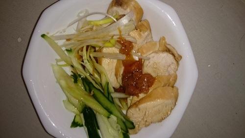 鶏肉の梅ソース